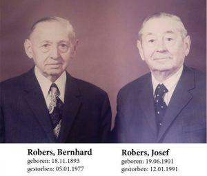Bernhard und Josef Robers mit Geburt/ Sterbedaten -