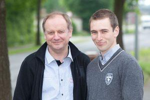 Vater und Sohn: Günter und André Overkämping