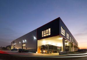 Das hochmoderne Logistikzentrum am Unternehmensstandort in Oeding