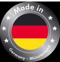 Schon nach der Selbständigkeit im Jahre 1948 wurde ein Meilenstein geschrieben: 100 % Made in Germany! Daran hat sich bis heute nichts geändert, auch nach den radikalen Strukturveränderungen in der Textilindustrie blieb man diesem Grundsatz bis heute uneingeschränkt treu. Heute ist es ein Markenzeichen: Made in Germany.