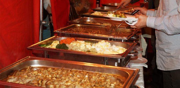 Das Buffet ist angerichtet - Höhepunkt jeder Veranstaltung.