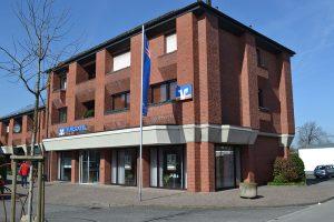 1981 wurde das neue Gebäude am Nordwall im Zentrum von Südlohn eröffnet.