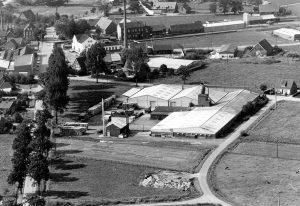 Der Anfang ist geschafft: Aufnahme des Betriebsgeländes im Jahre 1960.