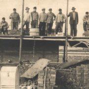 Baustelle der Aufbaujahre nach dem Zweiten Weltkrieg