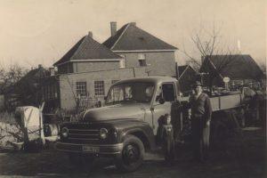HANOMAG LKW auf dem Betriebshof in den 1950er Jahren