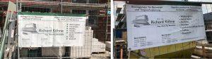 An vielen Baustellen in Südlohn, Oeding und darüber hinaus finden sich Hinweise auf die Baudienstleistung Köhne Baustatik.