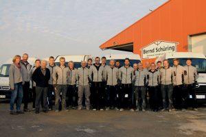 Das Team der Mitarbeiter des Unternehmens Bernd Schüring